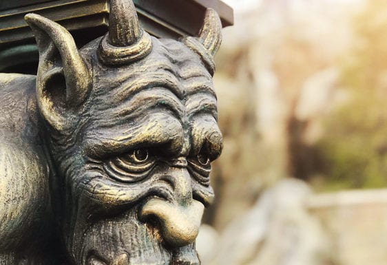 gargoyle outside of be our guest in magic kingdom