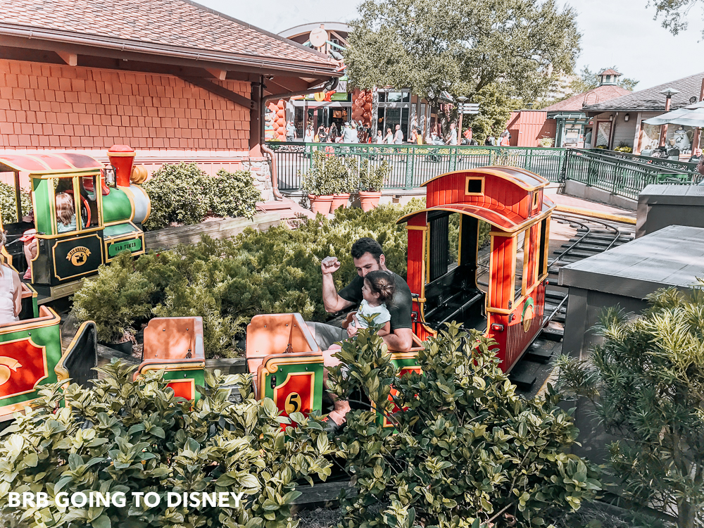 disney springs with a toddler